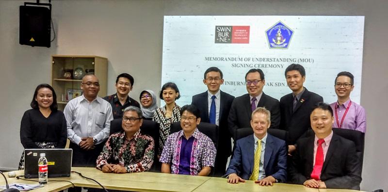 Penandatanganan Nota Kesepahaman dengan Swinburne University of Technology Sarawak Campus