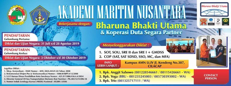 Akademi Maritim Nusantara Menyelenggarakan Pelatihan SOT, SOU, SRE II dan SRE I + GMDSS